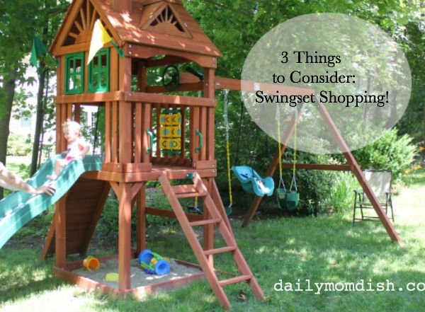 Swingset ideas inspiration for moms daily mom dish for Play fort ideas