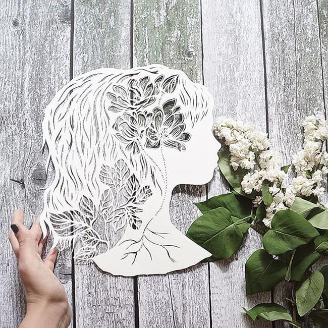 Kağıt Kesme Sanatıyla Moda İllüstrasyonları Tasarlayan Sanatçı: 'Eugenia Zoloto' Sanatlı Bi Blog 23