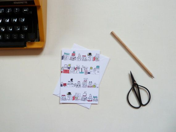 Suitcase Pattern Greeting Card by RachelAliHawkins on Etsy