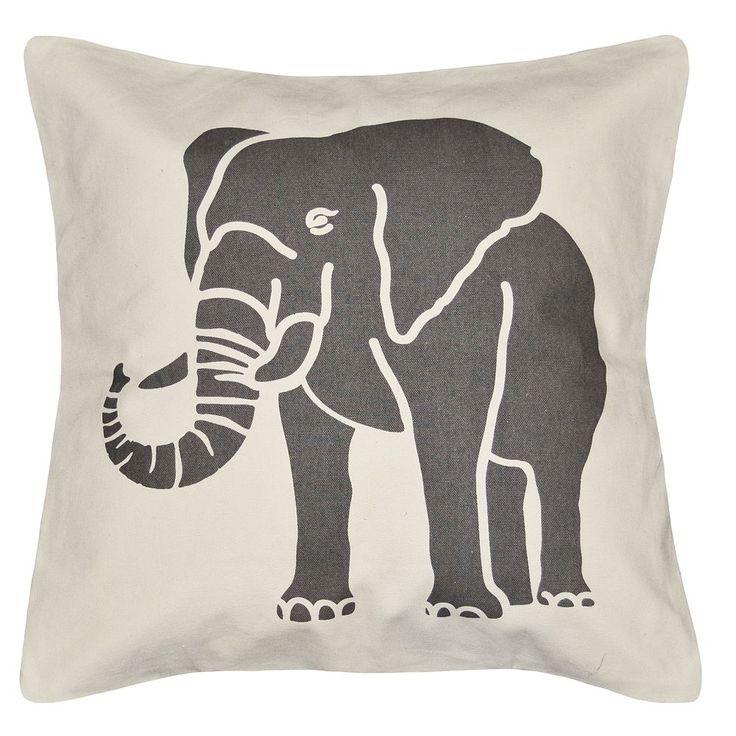 Spencer Home Decor Elephant Throw Pillow, Grey