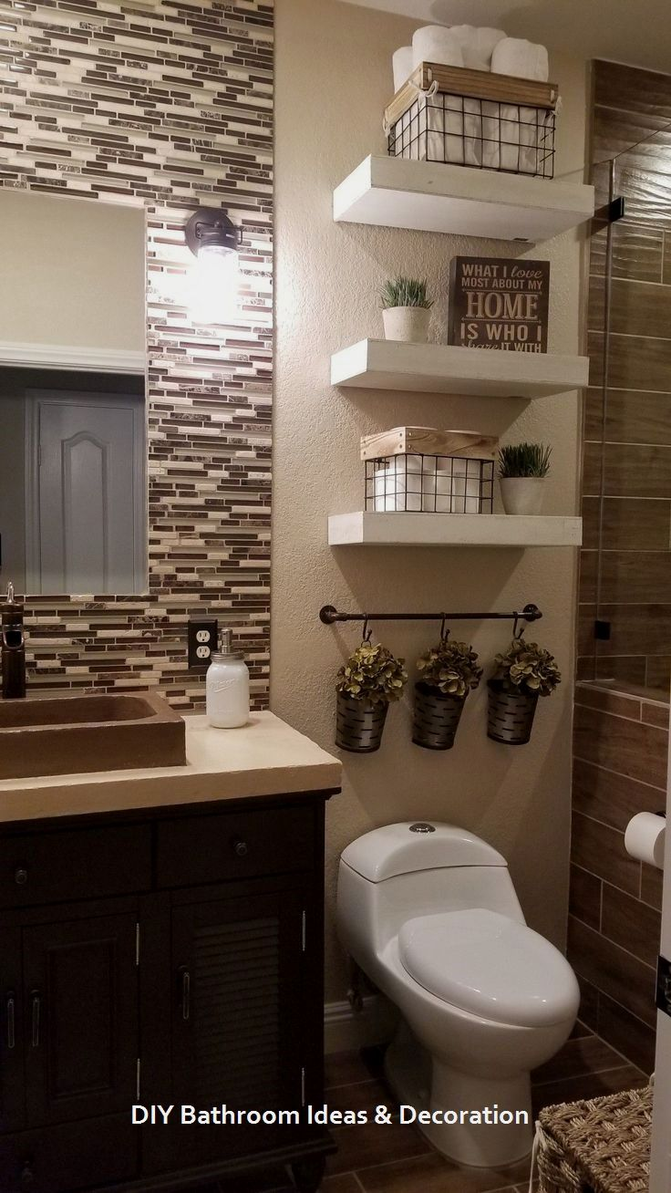 20 Cool Bathroom Decor Ideas 1 Brown Bathroom Decor Guest Bathroom Decor Diy Bathroom Decor