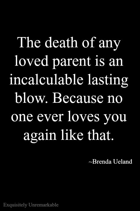 The loss of a parent is hard at any age. Whether you are a child or an adult it's never easy to say goodbye.