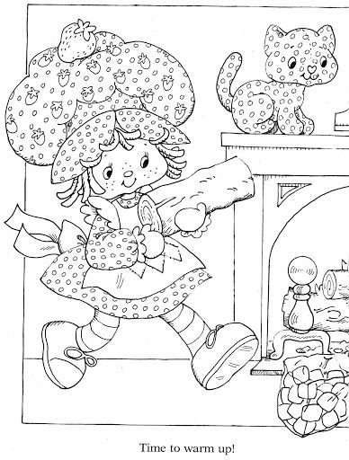 541 best Strawberry Shortcake Coloring Book images on Pinterest ...
