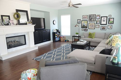 family room- I like that this room feels comfortable and casual. The room feels uncluttered and I like the clean lines.