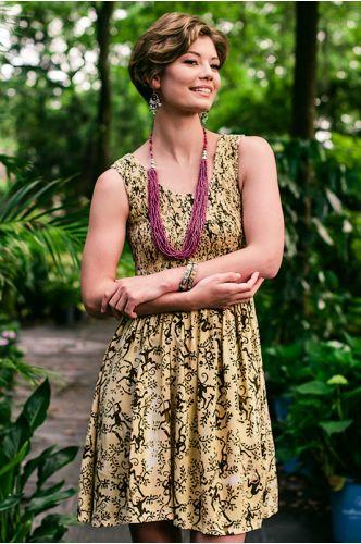 Island Getaway Batik Dress | Knee length Batik dress | Indonesia | shopgofish.com - $64