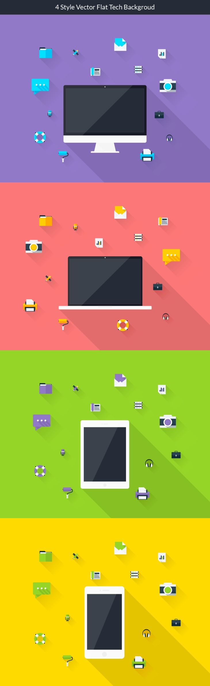 Flat Technology Backgrounds #FreeBackground from http://ortheme.com