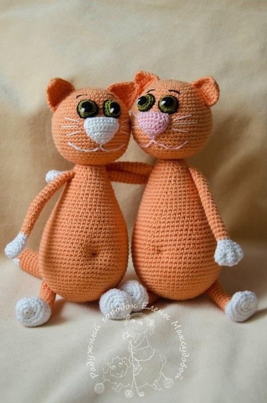 Радужный городок: Он-лайн по вязанию кота Рыжика. Часть 1.