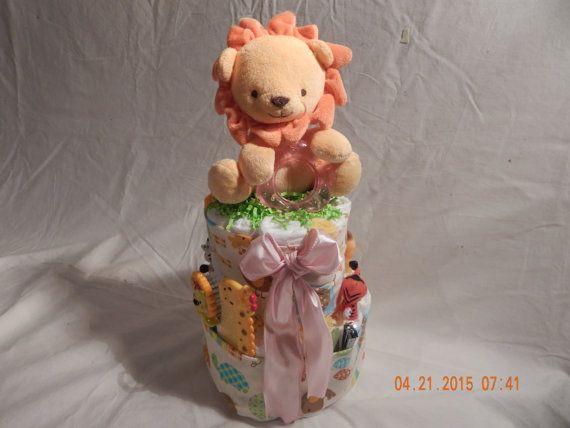Safari Theme Mini Diaper Cake