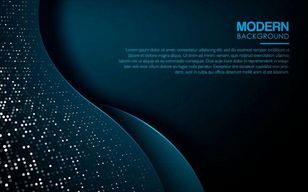 Dark Blue Abstract Wave Background Vector Premium Download