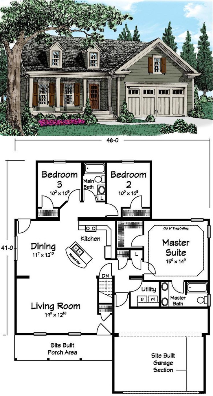 Love this layout add a half bath under the stairs that would go up to an attic bonus space and its great square small family house