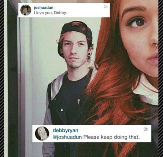 is josh dun and debby ryan dating