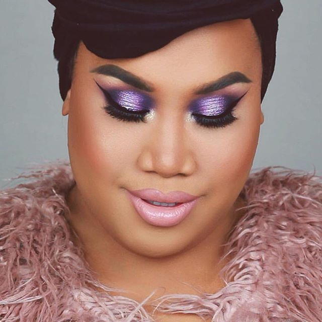 Shutting it down with this purple and pink makeup look~ the glamorous, the beautiful @patrickstarrr slays in Creme Corsett by @ssssamanthaa