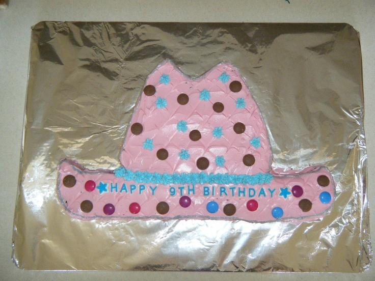 Pink Cowboy Hat Cake