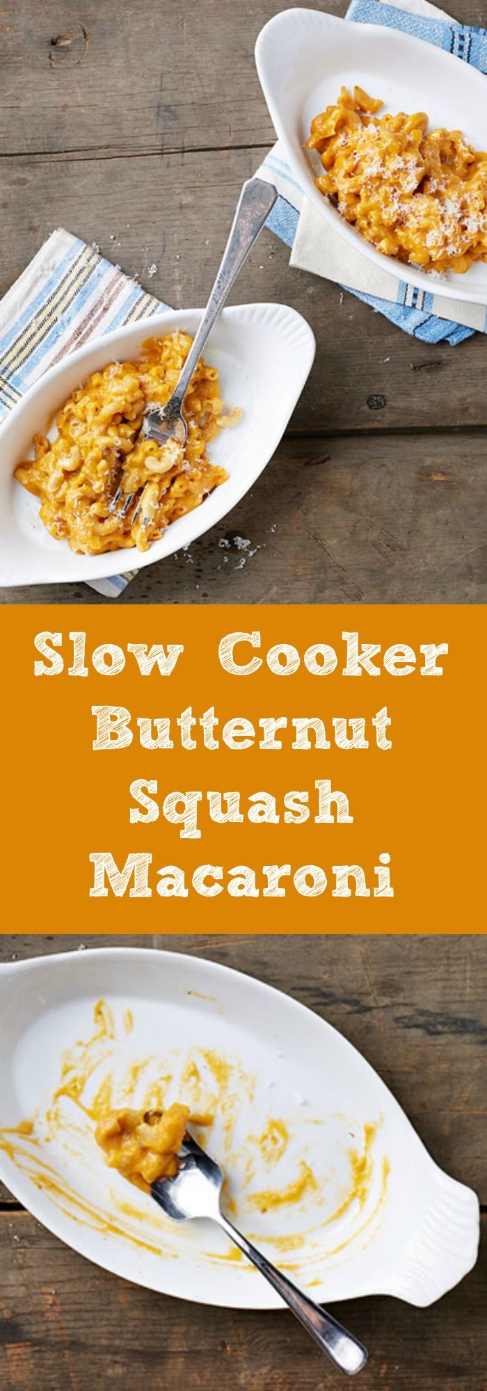 Slow Cooker Butternut Squash Macaroni and it's vegan too!