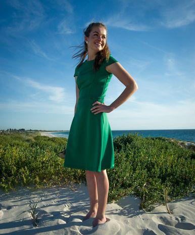 Green skater dress  http://www.omika.com.au/skater-dress-green/
