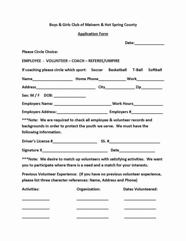 Volunteer Application Form Template Beautiful Volunteer Form Template Volunteer Application Application Form Volunteer Forms