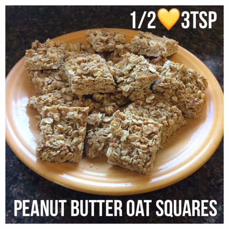Di's Food Diary 21 Day Fix Approved Recipes = Peanut Butter Oat Squares