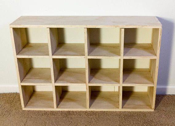 Ez Cube Mini 3x3 Shelf Wood Cube Shelves Wood Storage Cubes Etsy Cube Shelves Cube Storage Wood Bookshelves