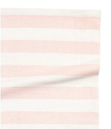 Gestreept katoenen vloerkleed | Lichtroze | Home | H&M NL