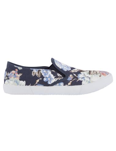 These sneakers have a floral gusset. #NewandNow