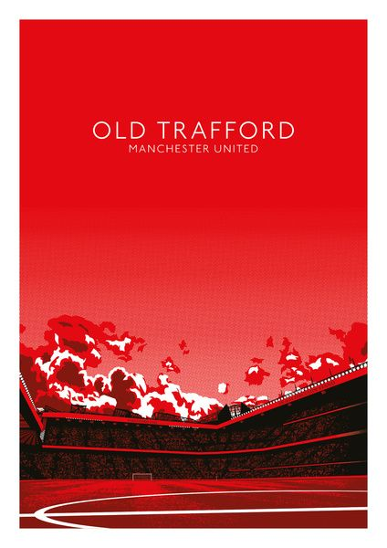 Old Trafford (Manchester United) Art Print