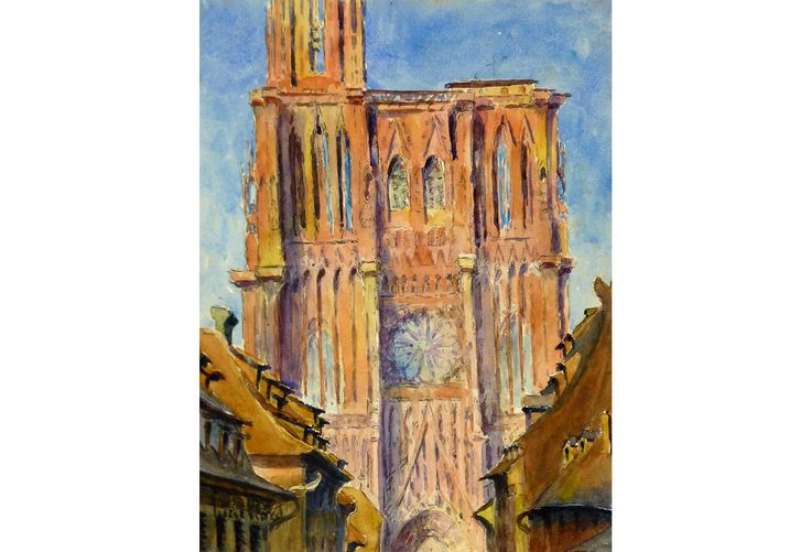 French Cathedral, C. 1930 by L. Viardy