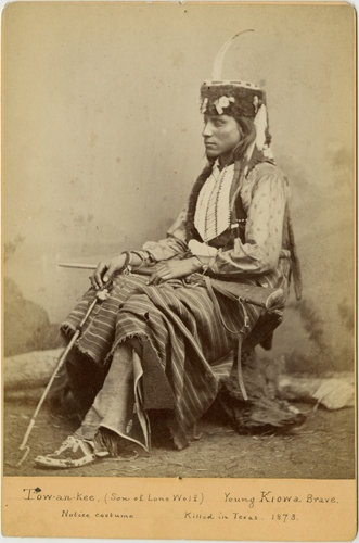 Tau-ankia-Tibone (aka Sitting In The Saddle) the son of Lone Wolf I - Kiowa - circa 1867