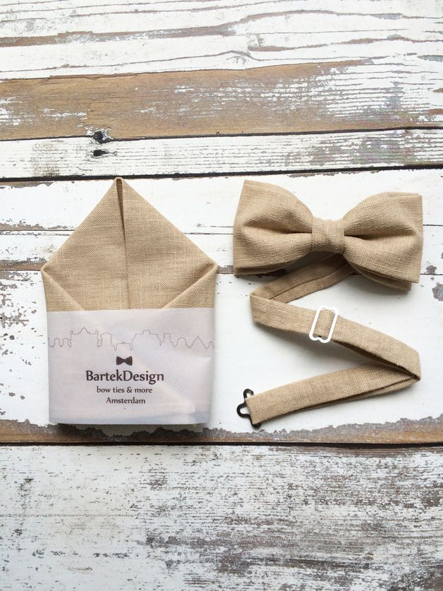 autumn in DaWanda Bow Ties – Set Pre Tied Bow Tie  Pocket Handkerchief – a unique product by BartekDesign on DaWanda
