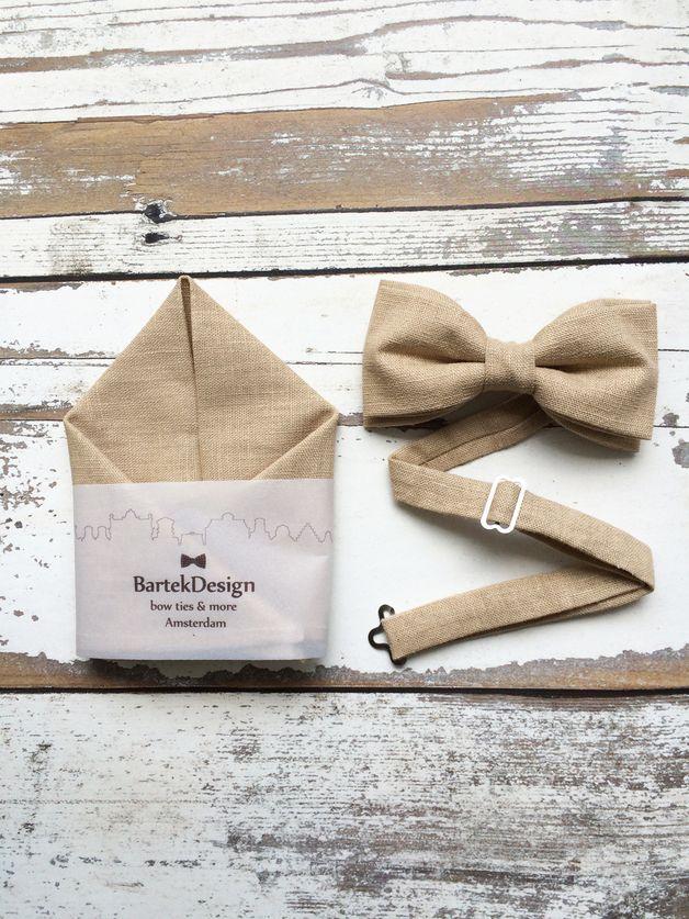 autumn in DaWanda Bow Ties – Set Pre Tied Bow Tie  Pocket Handkerchief – a unique product by BartekDesign on DaWanda
