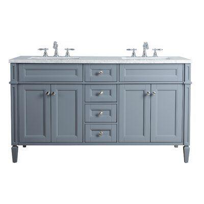 "Cragmere French 60"" Double Bathroom Vanity Set"