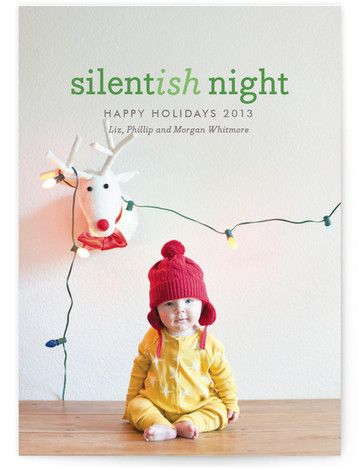 Baby's First Christmas Card, but Merry Christmas instead of Happy Holidays