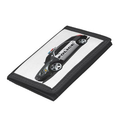 #Police car tri-fold wallets - #birthday #gifts #giftideas #present #party