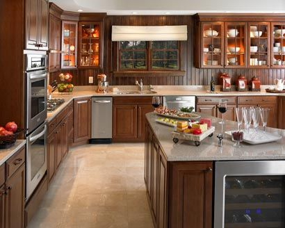 Why, Yes, We Would Like a $406,000 Kitchen: Kitchens Remodel, Kitchens Design, Cabinets Colors, Dreams Kitchens, Double Ovens, Modern Country Kitchens, Glasses Cabinets, Modern Rustic Kitchens, Wood Wall