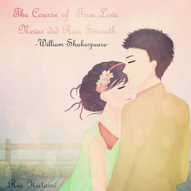 .@rie_hutami | the course of true love never did run smooth -william shakespeare... | Webstagram - the best Instagram viewer #illustration #quote #love #couple #pastelcolours #girl #boy