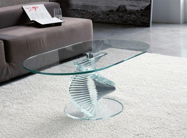 Les 25 meilleures id es de la cat gorie tables basses ovales sur pinterest - Table basse en verre ovale ...