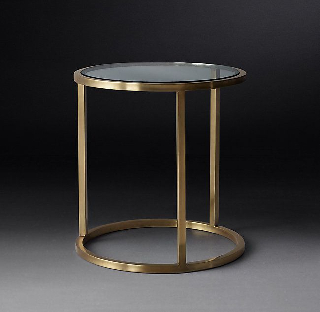 Nicholas Glass Round Side Table