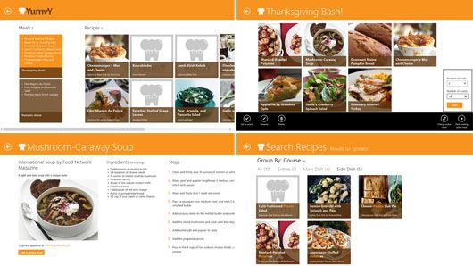 New Windows 8 Food and Dining Apps