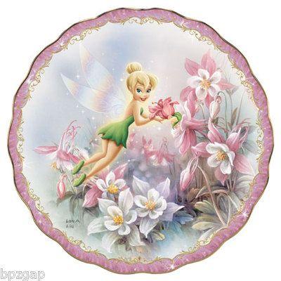 Disney Tinkerbell Lena LIU Budding Beauty Bradford Exchange Plate