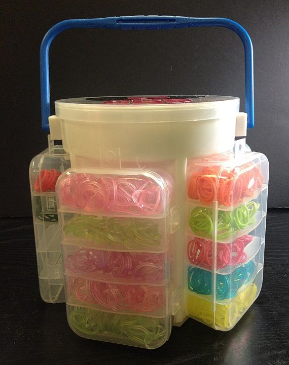 Rainbow Loom Band Organizer  Rubber Band Carrier  For by MAMVinyl, $20.00