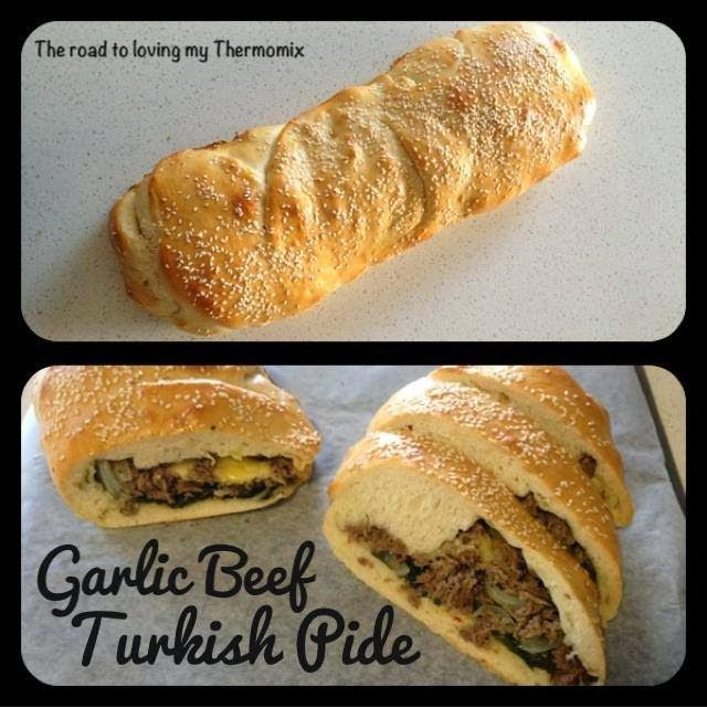 Garlic Beef Turkish Pide
