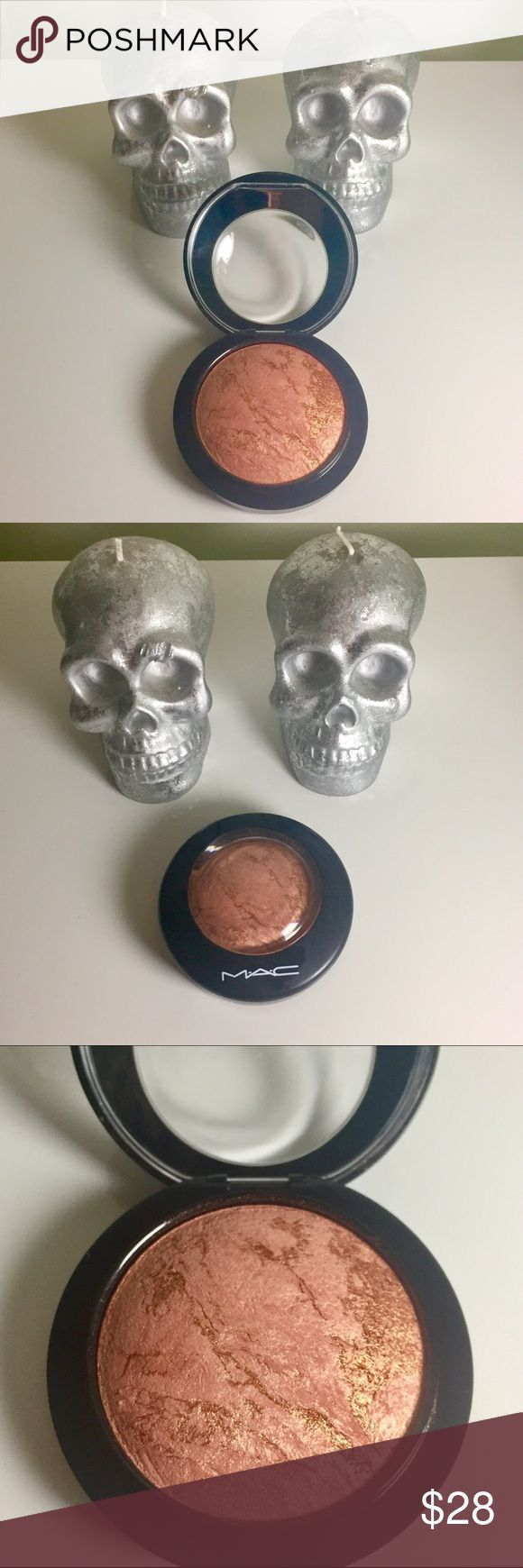 MAC Cheeky Bronze Mineralized Skin Finish MAC Cheeky Bronze Mineralized Skin Finish - Blush/Bronzer - used twice - authentic - soft coppery orange with golden shimmer - new glossy black packaging - includes protective plastic cover - .35 oz MAC Cosmetics Makeup Bronzer