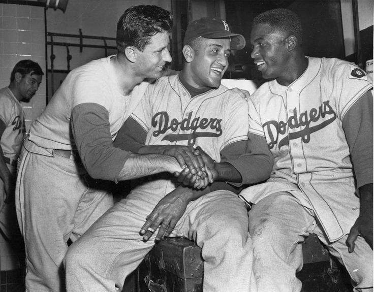 Andy with Newcombe and Robinson.