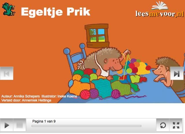 Lees me voor: Egeltje Prik (book with text, read out at a slow pace)