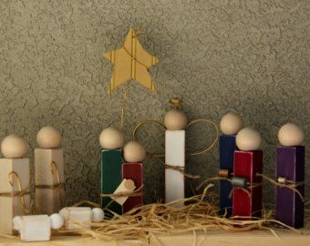 Distressed Wooden Nativity Scene by ShadyHens on Etsy