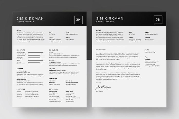Resume/CV - Jim Kirkman by BRODUCTIVE on @creativemarket
