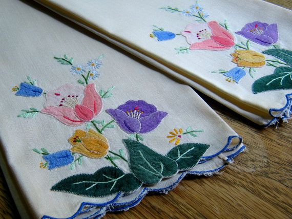 Vintage Shabby Chic Guest Towels Floral by BeautifulPurpose