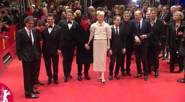 Channing Tatum, George Clooney, Tilda Swinton and others posing at the Berlinale Gala Opening! #berlinale #berlinale2016 #berlinalemoments #berlin #film #festival #georgeclooney #channingtatum #tildaswinton