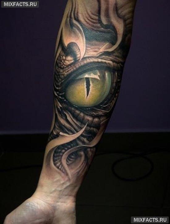 идеи тату глаза животных