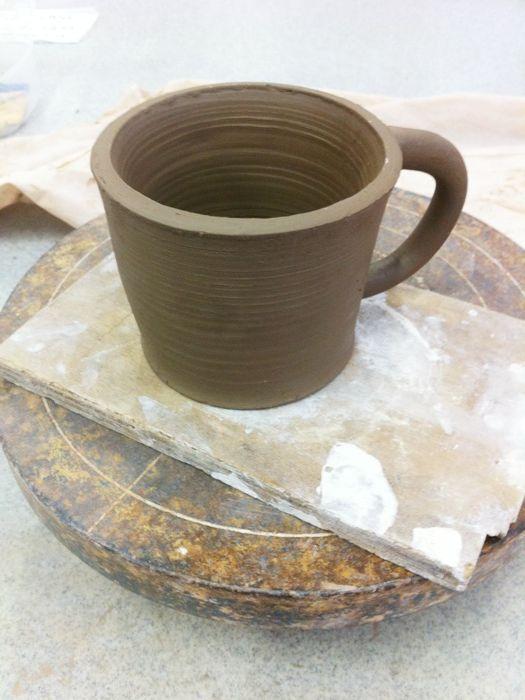 Coil pot. Brown raku clay. Unfired. Coffee mug. #pottery # ...