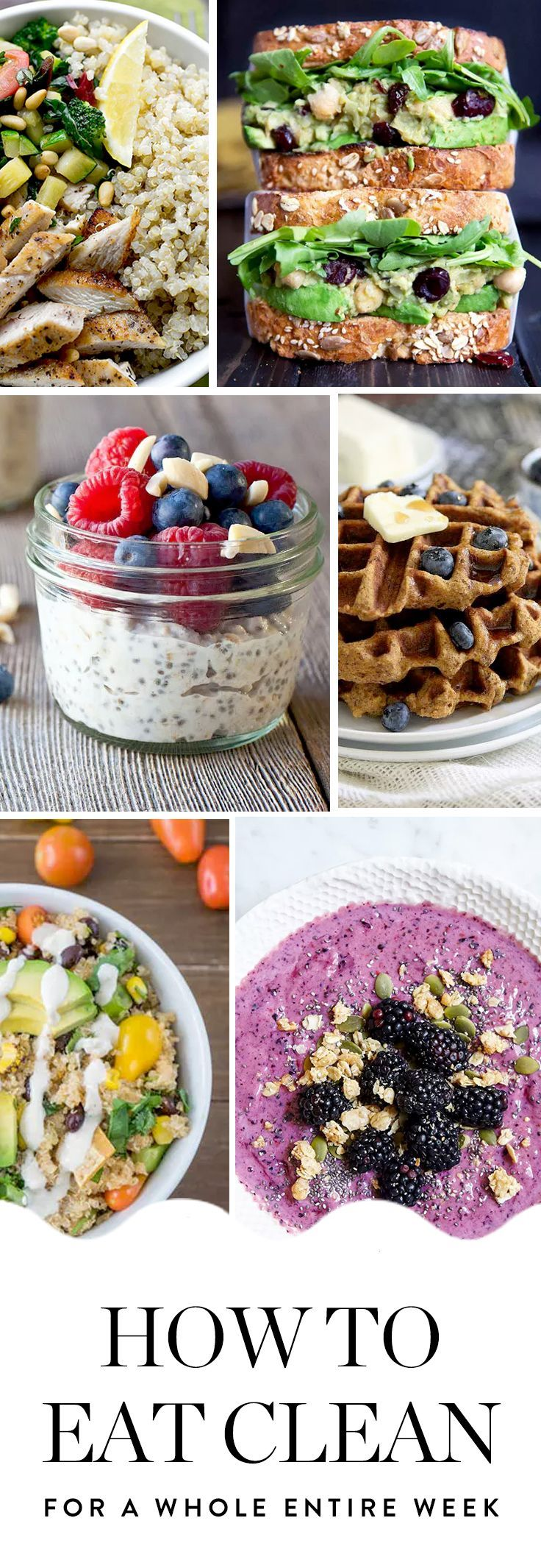 We created a plan that'll help you create 3 clean eating meals a day for 7 days straight. Whether you make one or 21 of these recipes, you're on your way to feeling great.
